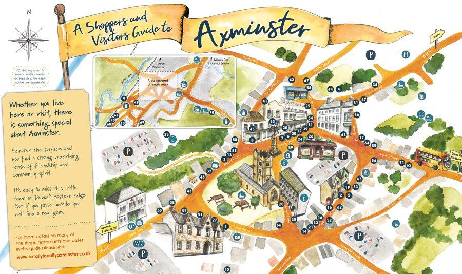Axminster Map