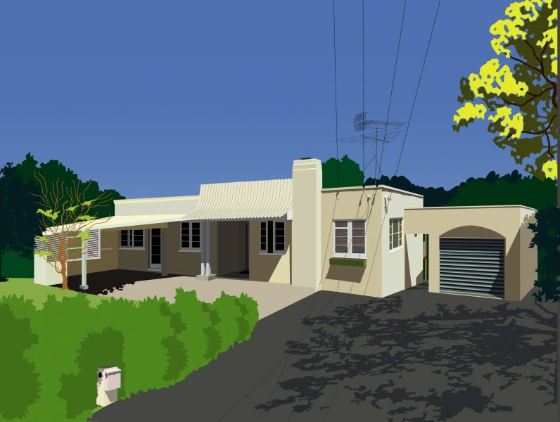 Personalised House Portrait New Zealand