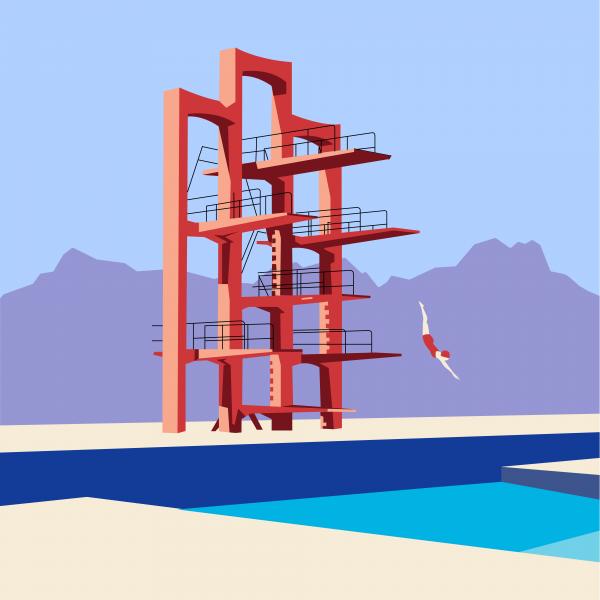 Soviet Modernism: Diving tower