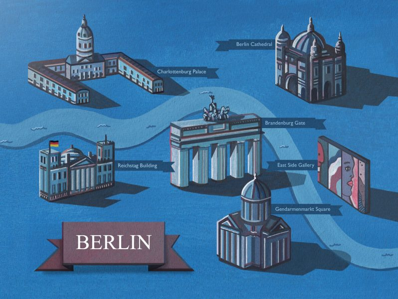 Berlin Map Illustration