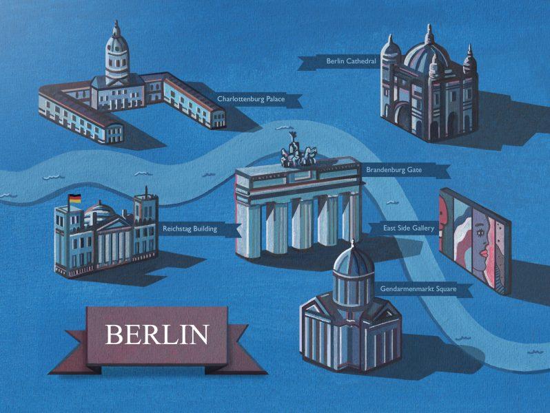 Berlin Map Illustration