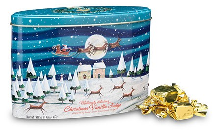 Christmas Holiday Scene Tin Packaging