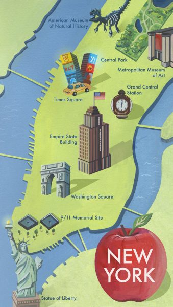 New York City Map Illustration