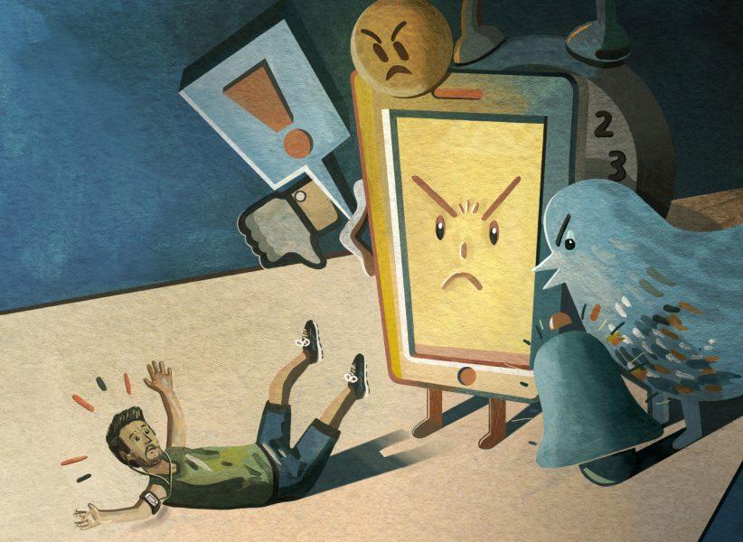 Running Editorial Illustration