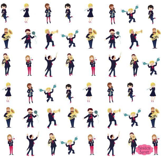 Musicians pattern