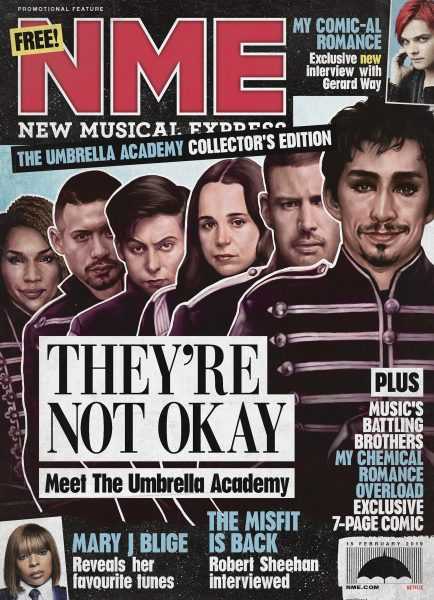 NME Umbrella Academy Special Edition Cover art