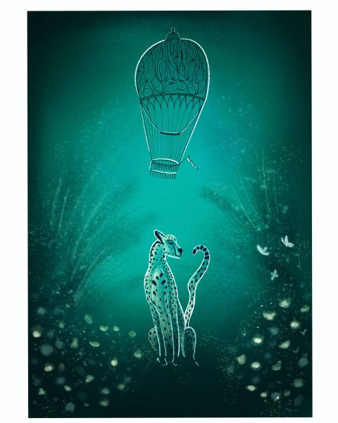 Midnight snow Leopard Glow