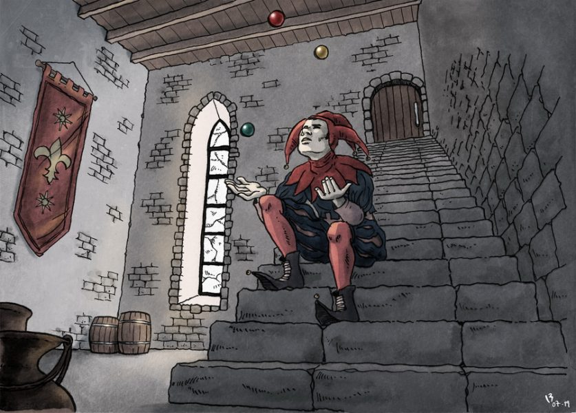 The Jester, locked up