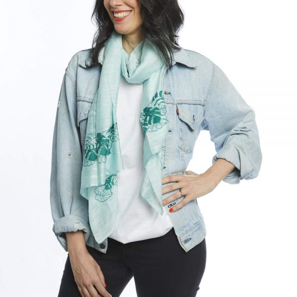 Botanical silk scarf by Erin Donohoe for WWF