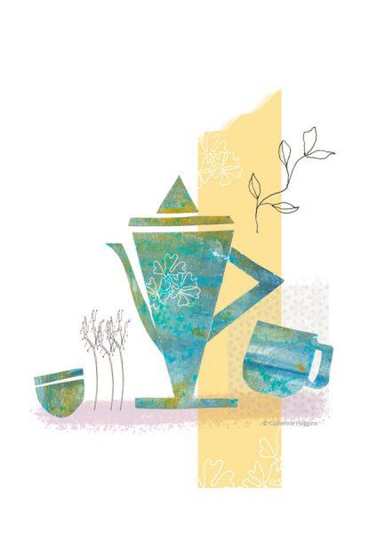 Tableware - Coffepot - Teapot Illustration