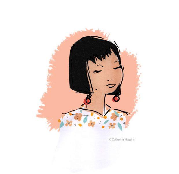 Young woman Face Portrait Illustration - Susie