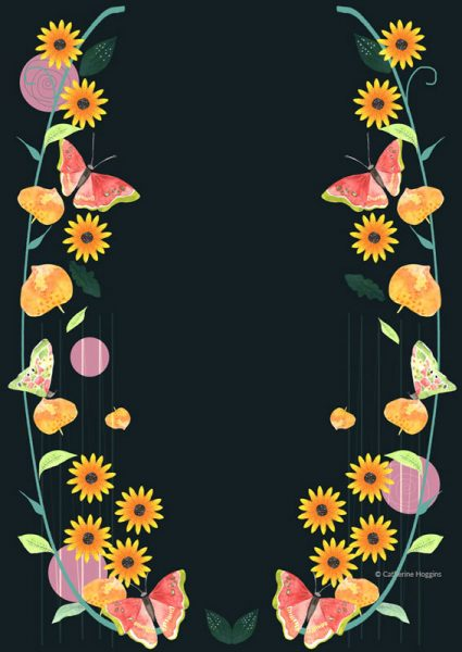 Bright Cheery Floral Decorative illustration