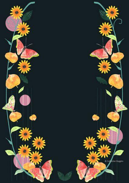 Bright Cheery Floral Decorative illustration