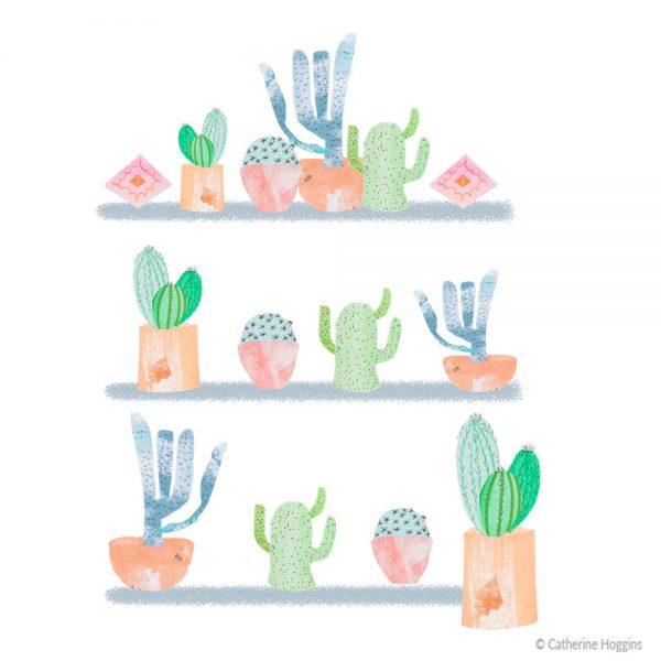 Catherine-Hoggins-Pretty-Cacti-Plants-Illustration