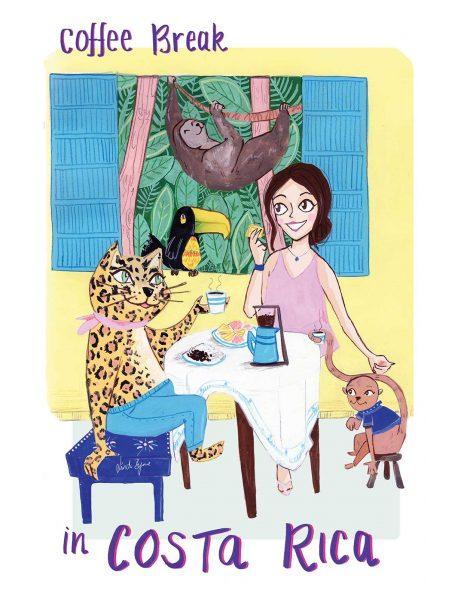 Coffee Break in Costa Rica by Linda Byrne Illustration