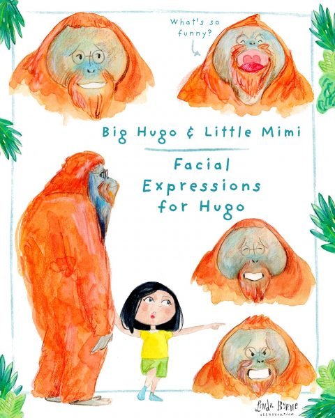Personal project | Character facial emotions for Hugo & Mimi