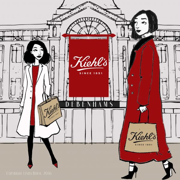 Kiehls Cork launch fashion illustration