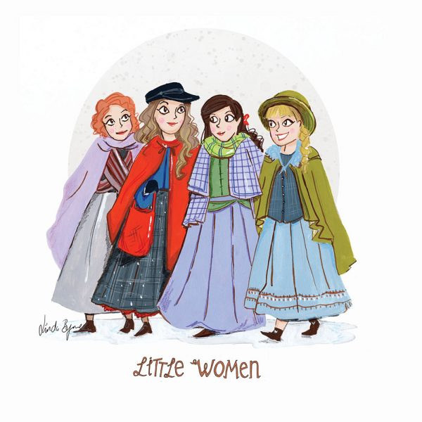 Editorial artwork of Little Women  by Linda Byrne