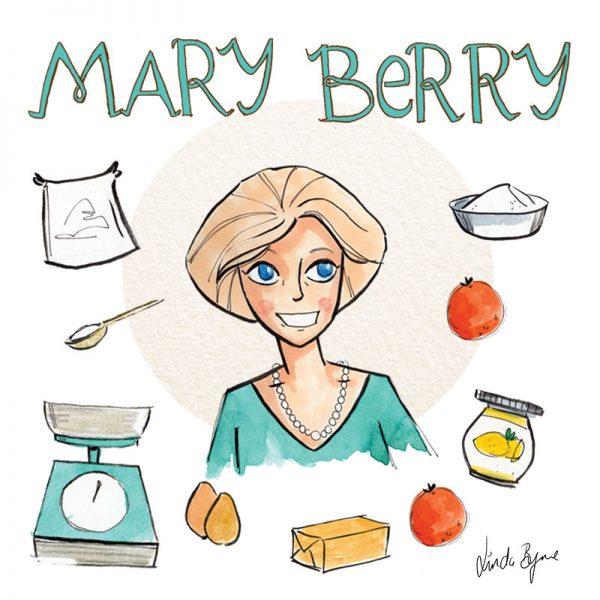 Mary Berry Illustration Linda Byrne