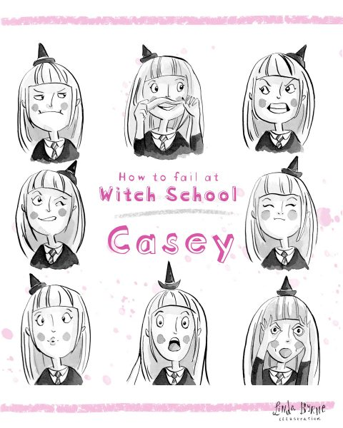 Personal Project | How To Fail at Witch School | Facial Emotions