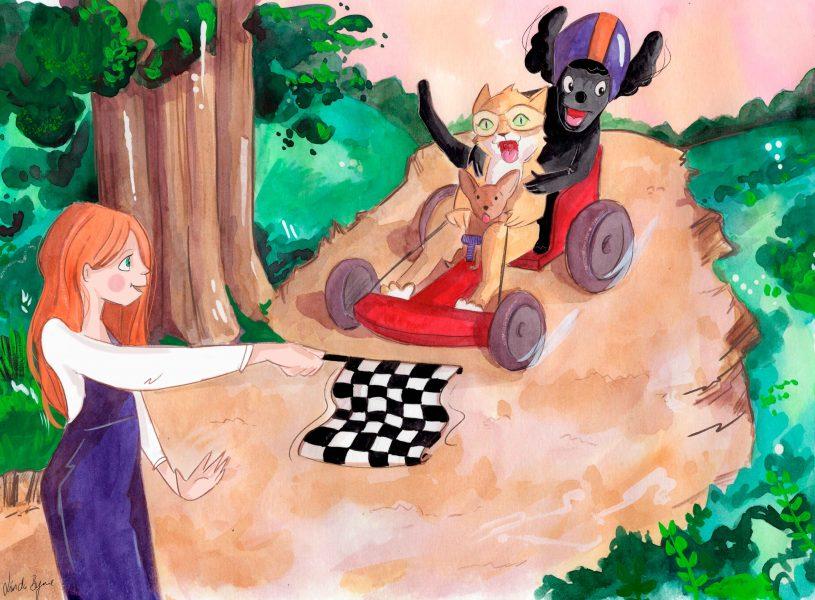 Children's Book Artwork The Race by Linda Byrne Illustration