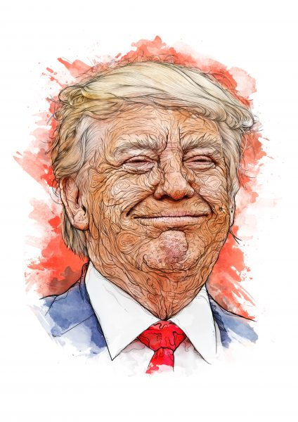 One Day Portrait - Donald Trump