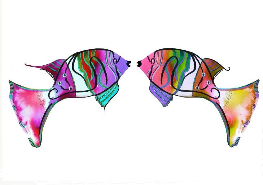 Tie dye fish