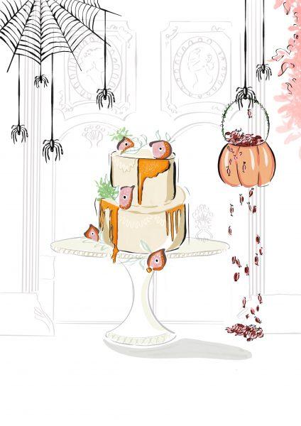 Lily Vanili Halloween Cake