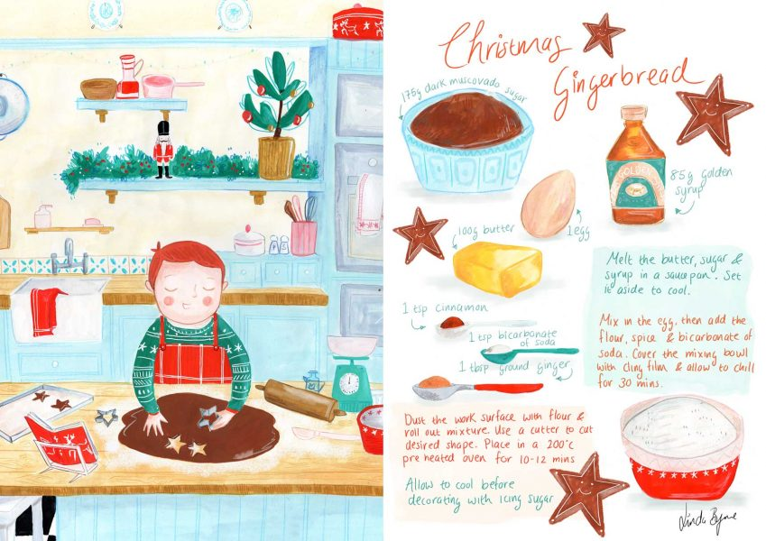 Personal project | Illustrated Recipe Christmas Gingerbread