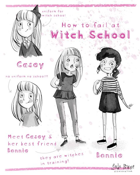 Personal Project | How To Fail at Witch School | Character Sheet