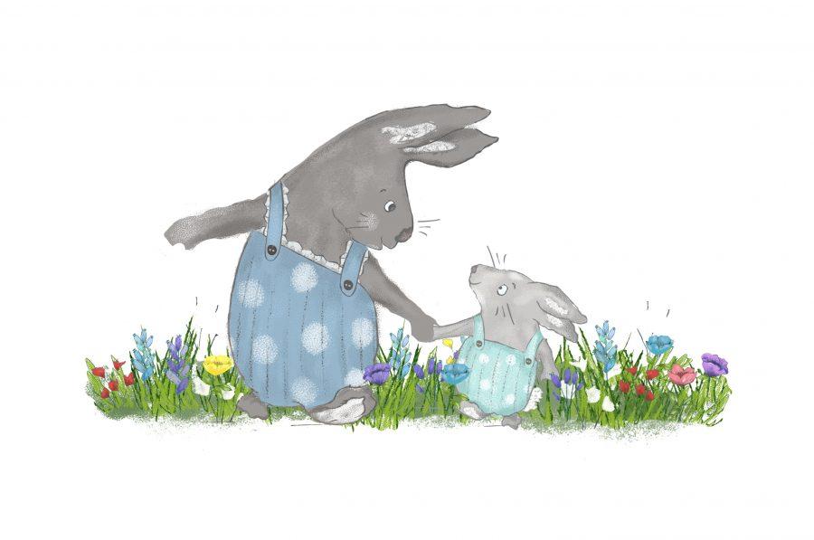 Bunnies walking