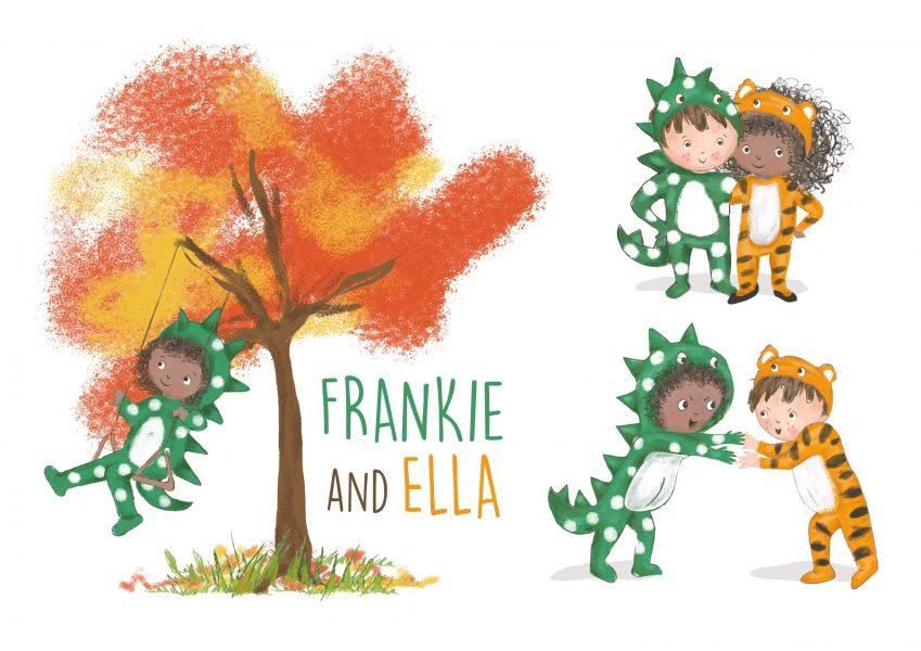 Frankie and Ella playing