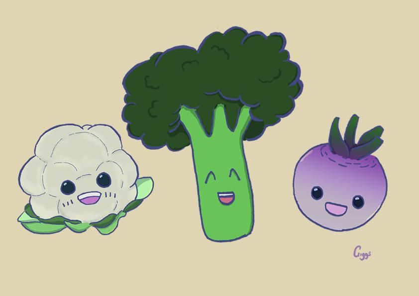 First Tastes: Cauliflower, Broccoli, Turnip