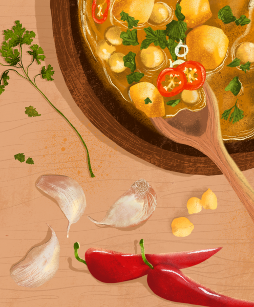 Cooking Potato Curry