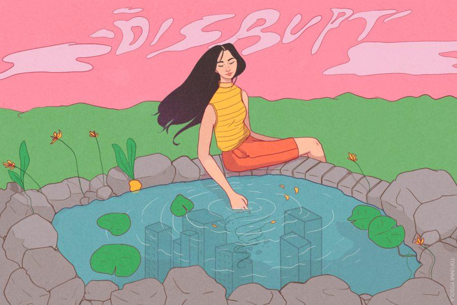 Advertising Illustration for Dear Damsels, Disrupt