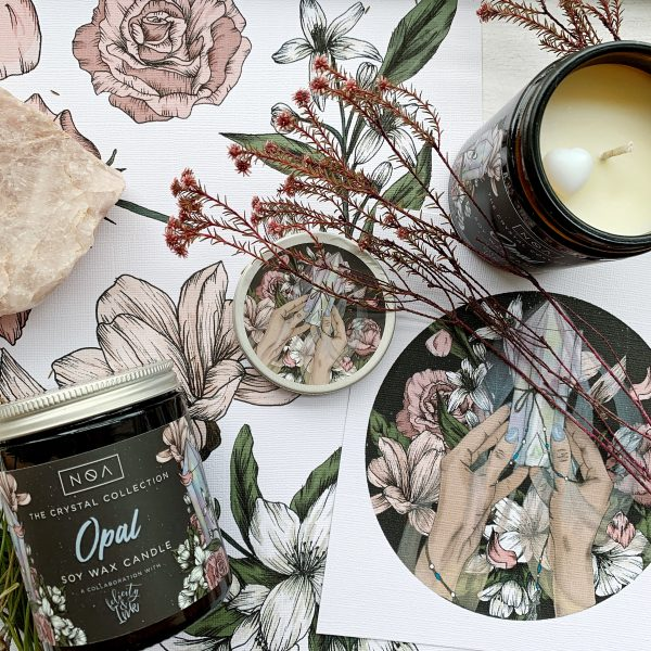 Felicity and Ink X NOA Crystal Candle Collection - Opal