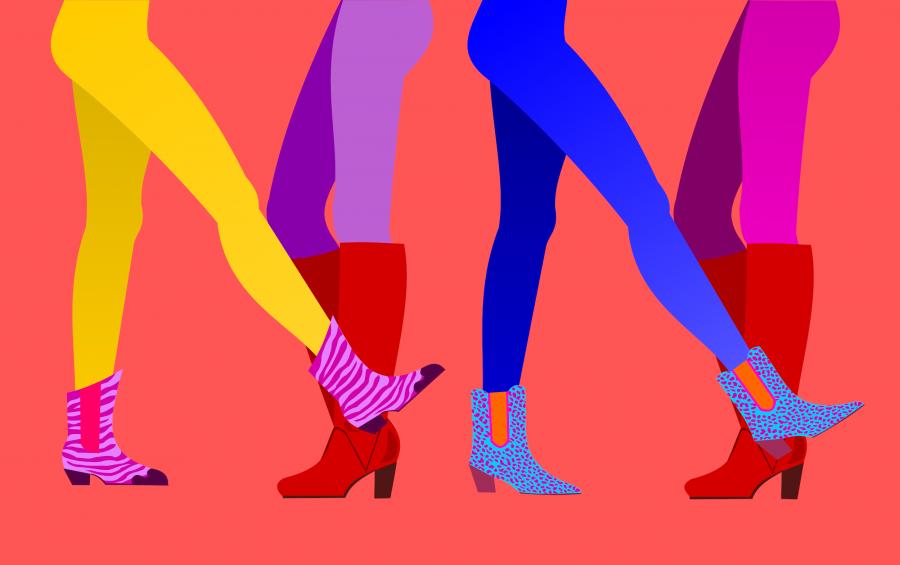 Legs in colour