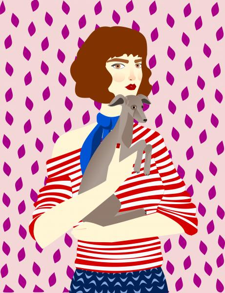 Portrait of a woman Cecile
