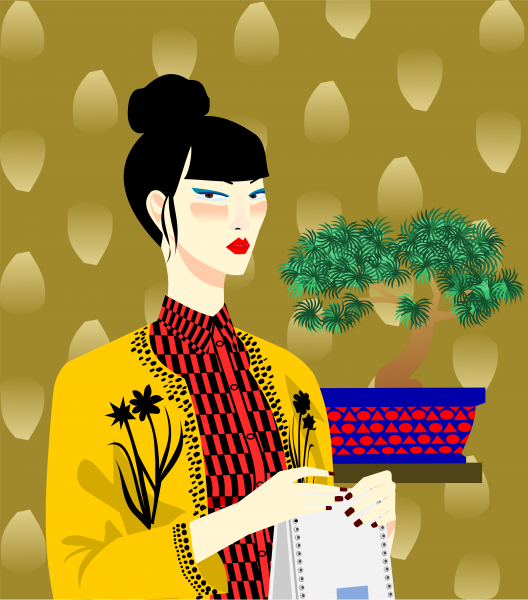 Portrait of woman Sayuri