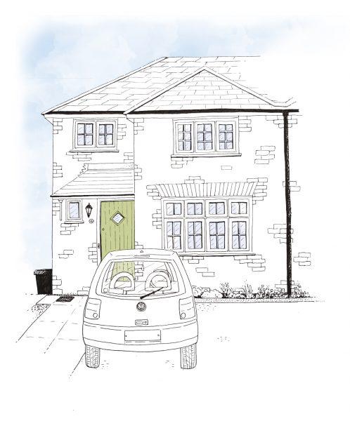 House Illustration gift