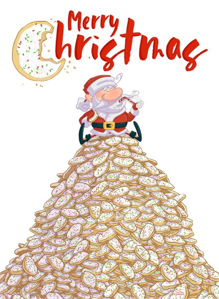 Santa's cookies stash