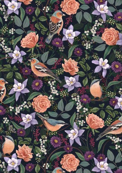 Chaffinch and Nuthatch Pattern