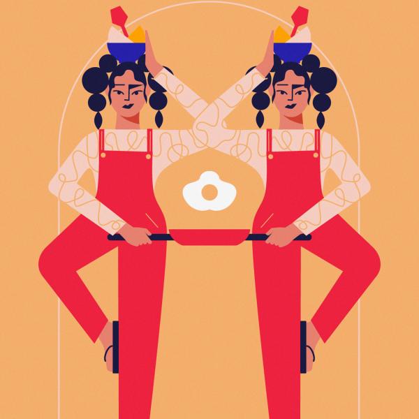 Everyday struggle_Monika Jurczyk Monsie illustration