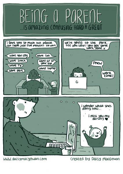 Working mum web comic
