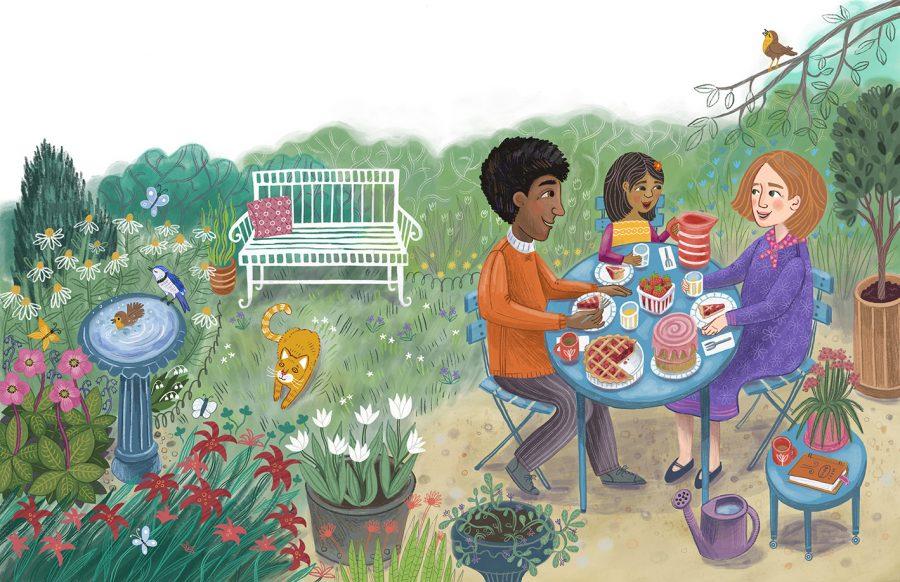 Family in the Garden