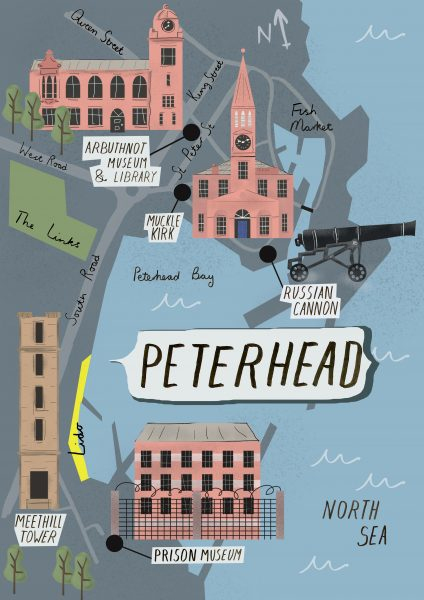 Map of Peterhead