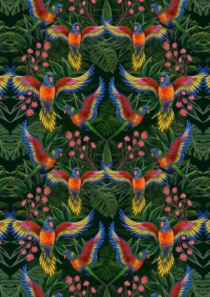 Pride Rainbow Lorikeets Pattern