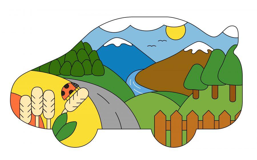 Roadtrip through hills copy