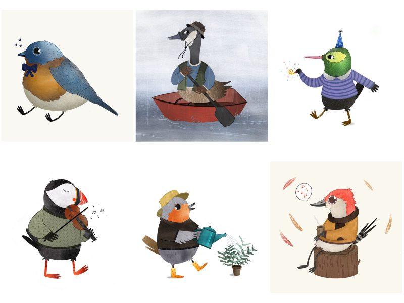 Bird Character Design