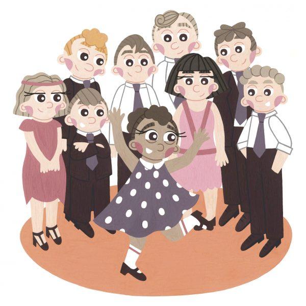 Ella Fitzgerald Dancing Illustration